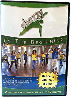Shazzy Fitness: in The Beginning DVD Dance Workout - Beginner, Low Impact Faith Based Home Cardio Exercise Video for All - Adults, Women, Kids, Seniors - with Christian Music Blue