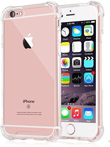 Crystal Clear Ultra Thin Shock Proof Hard Pc Soft TPU Transparent Bumper Back Cover For Iphone 6 Iphone 6S ONLY