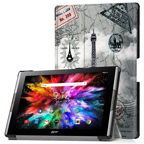 Lobwerk Hülle für Acer Iconia Tab 10 A3-A50 10.1 Zoll Schutzhülle Tablet Smart Cover mit Standfunktion & Touchpen