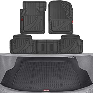 Motor Trend PRO793 Premium FlexTough Full Combo Advanced Performance Front & Rear Protection Cargo Mat Liner – w/Traction ...