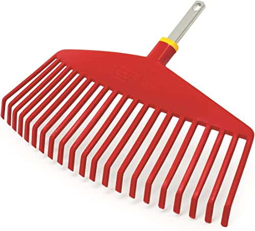 Wolf-Garten UIMC Multi-Change Leaf Rake Lawn Care Tool Head, Red, 46.5x6.5x4.2 cm