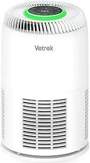 空気清浄機 20畳 花粉症対策 UVライト殺菌 中型 脱臭 PM2.5数値表示 イオン発生 ホコリ 対策 自動風量調節及び4段階風量 ホコリセンサー 6種浄化システム 静音 タイマー付き やチャイドルロック搭載 Vetrek (ホワイト)