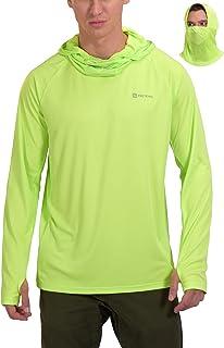 Men's Face Mask UPF 50+ Sun Protection Shirt Thumbholes...