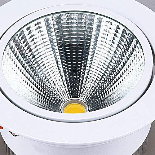 Raelf COB Strahler Spotlight LED Downlight Round Einbau integrierten Scheinwerfern Embedded 3000K6000K Deckenleuchte Deckeneinbau kommerzielle Beleuchtung weißes Licht Nut Beleuchtung Downlight-Licht