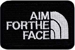 Aim for The Face Decorative Combat Costume Tactical Sticker Hook Applique Apparel Patch