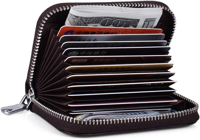 FJPTREN Women RFID Credit Card Special sale item Around Zipper Gen 5% OFF Blocking Holder