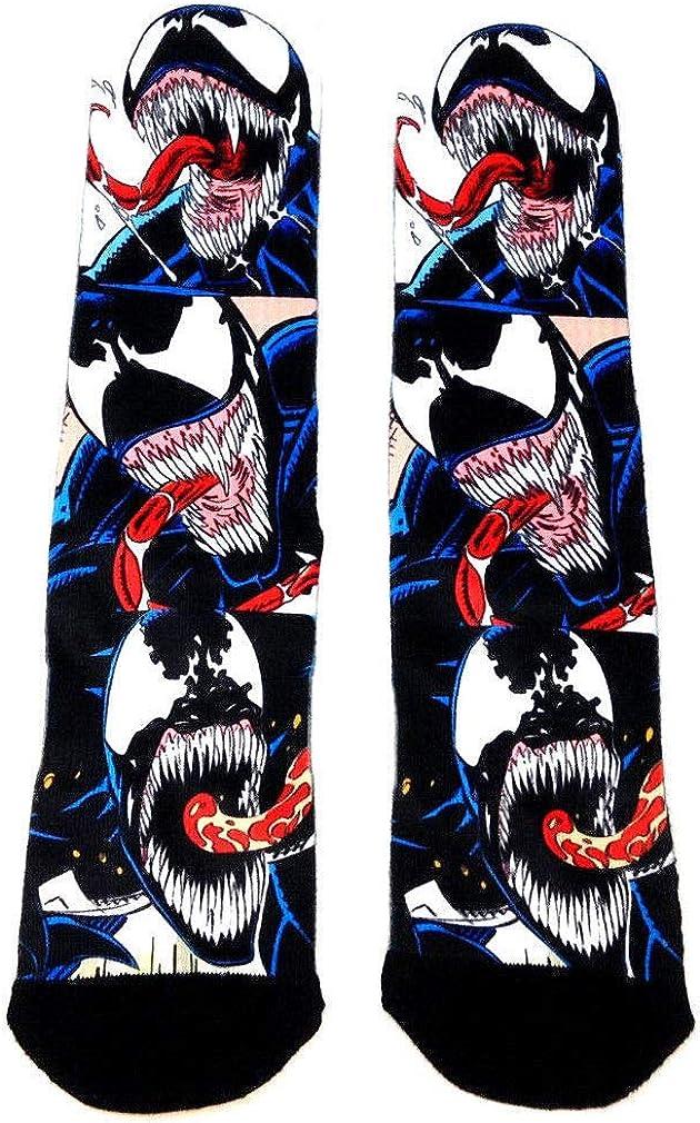Marvel Comics Venom Face Comic Panels Premium Sublimated Crew Socks