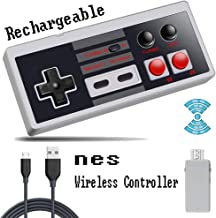 Rechargeable NES Classic Wireless Controller for Nintendo NES Classic Edition、NES Classic Mini Controller. Zero Delay A+B Rapid Buttons,Built-in Battery Use 8H, Plug and Play NES Controller(White)