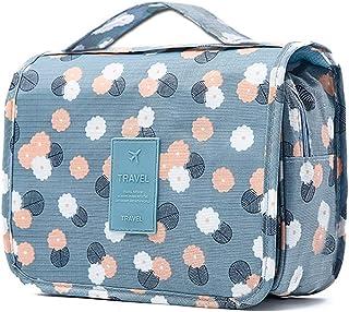 掛け式化粧ポーチ 旅行メイクバッグ フック付き防水化粧袋