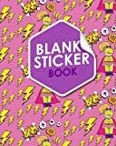 Blank Sticker Book: Blank Sticker Book For Girls, Sticker Collecting Album Blank, Sticker Album For Collecting Stickers Boys, Sticker Organizer Pages, ... Hero Cover: Volume 82 (Blank Sticker Books)