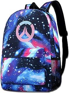 Pink Overwatch Shoulder Bag Fashion School Star Printed Bag