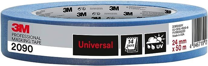 Scotch PT209024 Super Schilderafdekband, 24 mm x 50 m, Profi-Plus kwaliteit, blauw
