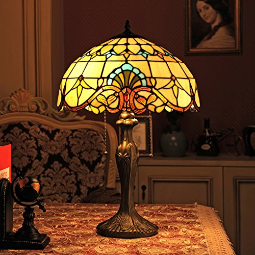 16-Inch Barock europäische Tiffany Tischlampe Schlafzimmerlampe Nachttischlampe