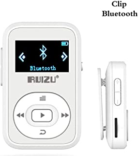 DishyKooker rui/zu X26 8GB Clip Sport Bluetooth MP3 MP4 Music Player OLED Screen Lossless Sound Great Performance White
