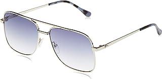 نظارة شمسية مستطيلة بريميوم اند هيريتيج للرجال من لاكوست - لون فضي