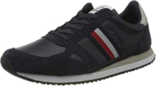 Tommy Hilfiger Runner Lo Leather Stripes, Sneakers Basses Homme