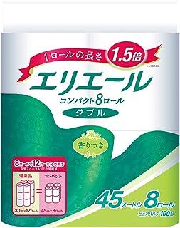 エリエール トイレットペーパー 1.5倍巻き 45m×8ロール ダブル パルプ100% リラックス感のある香り