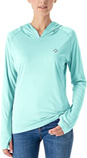 NAVISKIN Women's UPF 50+ UV Sun Protection Hoodie Lightweight Outdoor Long Sleeve Shirt