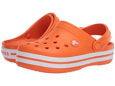 Crocs Kids Crocband Clog (Toddler/Little Kid) (Orange) Kids Shoes