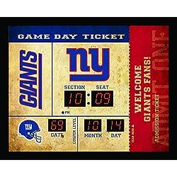 Team Sports America New York Giants Bluetooth Scoreboard Wall Clock