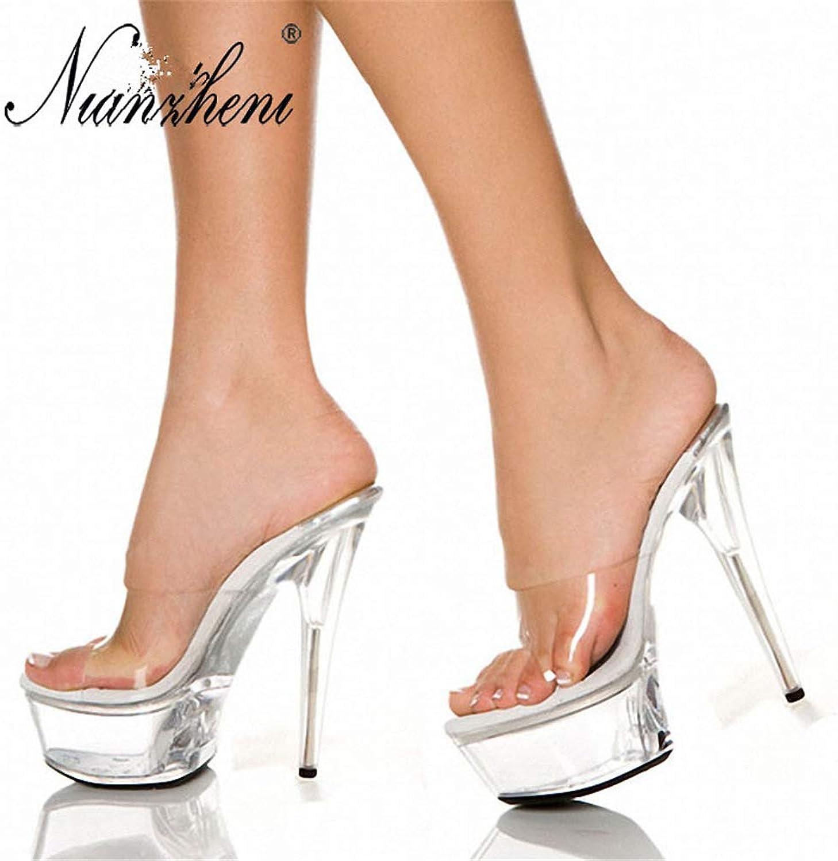 CHENSF Women High Heels Sandals Waterproof Platform Stiletto shoes