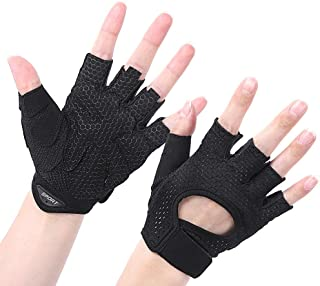 Foaynn Workout Gloves Weight Lifting Gloves Gym Gloves Exercise Gloves for Men & Women, Exercise Gloves Sports for Training,Suit for Fitness(1 Pair)