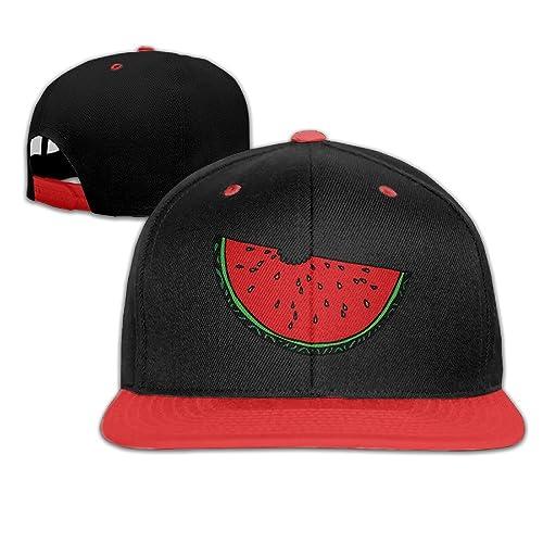 Cartoon Fresh Fruit Watermelon Snapback Adjustable Baseball Unisex Cap White 2b81ff9faa65