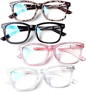 4-Pack Blue Light Blocking Reading Glasses Women...