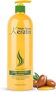 شامبو مرطب Moisturizing Shampoo with Moroccan Argan Oil for Dry Hair Magic Master Keratin 1000 ml