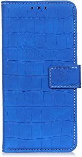 zl one Compatible with/Replacement for Phone Case LG K20 2019 PU Leather Wallet Case Card Slots Flip Cover (Blue)
