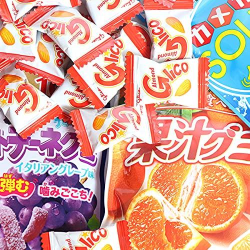 グミとキャラメルのセット(果汁グミ・アーモンドグリコ)(4種・計41コ) おかしのマーチ (omtmb7584)