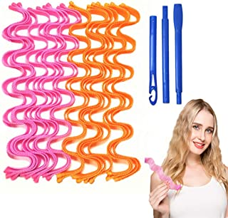 18PCS Hair Curlers Rollers, Rollers for Hair Magic Rollers Hair Curlers Magic Spiral, DIY Heatless No Heat Magic Overnight...