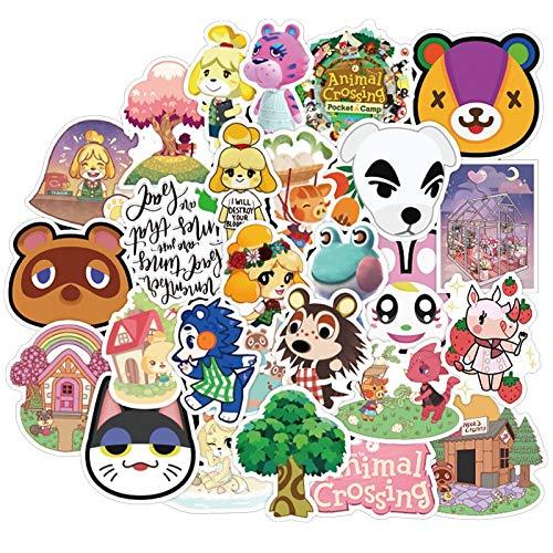Nologo 50PCS Animal Crossing Aufkleber Wasserdicht for DIY Laptop Gitarre Aufkleber Telefon Motorrad-Auto-Helmet-Kind-Spielzeug-Karikatur-Aufkleber