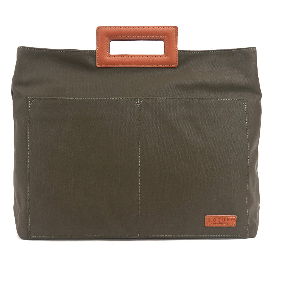 雪だるまを作る電気の処理LOTUFF(ロトプ) 5 Color トートバッグエコバッグメンズレディース LO-2607 メンズ レディース WaxFabric & Leather Eco Bag Tote Bag [並行輸入品]