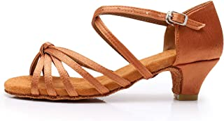 HROYL Zapatos de Baile Latino para Niña y Mujer Zapatos de Baile Salsa de Salon ES-201