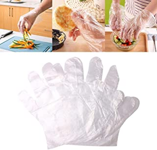 St. Lun Plastic Disposable Gloves Restaurant Home Service Catering Hygiene (Color : A)