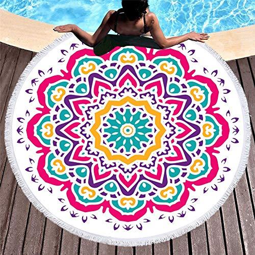 Kaper Go Estilo Nacional De Impresión De Secado Rápido Redondo Suave Toalla De Playa Absorbente Baño Cojín del Asiento 150 * 150 Cm