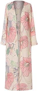 MogogoWomen Chiffon Cardigan Floral Printed Sunscreen Long Sleeve Cover up