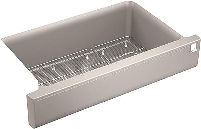 Kohler K-25784-CM3 Cairn Kitchen Sink, Matte Taupe