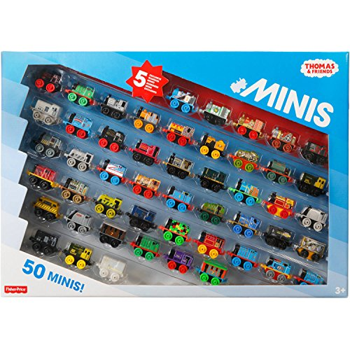 Thomas and Friends Minis Collection of 50 - with 5 Exclusive Warrior Minis by Thomas & Friends