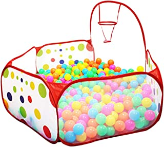 JDH Piscina de Bolas para niños con aro de Baloncesto, Tienda de Piscina de Bolas de océano para niños de 4 pies / 120 cm con 25 Bolas/Bolsa de Almacenamiento con Cremallera