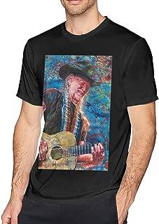 Hodenr Mens Cool Willie Nelson T Shirt Black