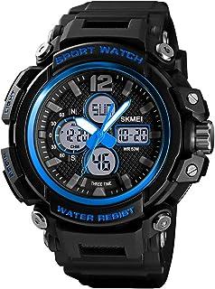 ساعة 1498 للرجال كوارتز رياضية مضادة للماء 5ATM 12/24 ساعة عرض الأسبوع ساعة انالوج للرجال