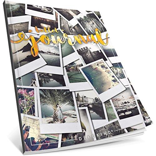 Dékokind® Bullet Journal: Ca. A4-Format • 100 Seiten, Punktraster Notizbuch mit Register • Dot Grid Notebook, Punktkariertes Papier, Skizzenbuch • ArtNr. 18 Polaroid • Vintage Softcover