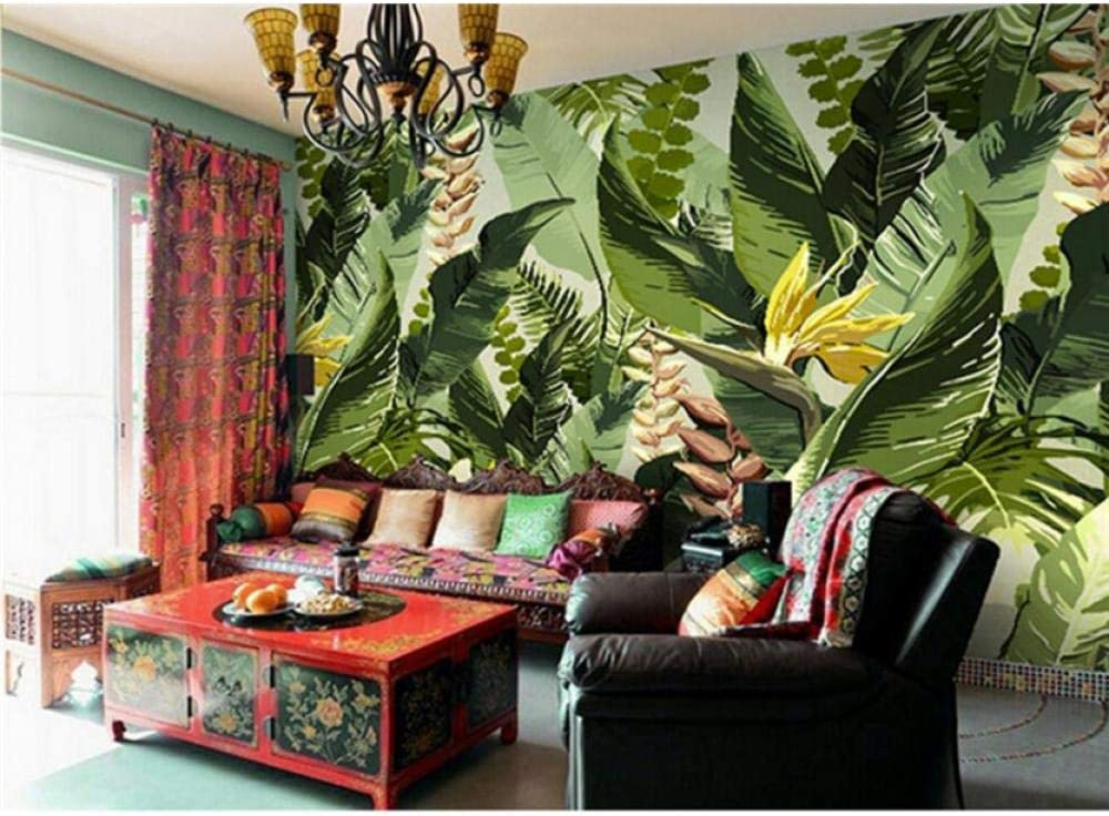Banana Leaf Wallpaper Photo Wall Mural for Li gree Flower Be Colorado Springs Mall super welcome Leaves