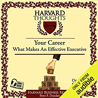 What Makes an Effective Executive audiobook cover art
