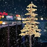 6ft Artificial Tree, Garden Lights, Outdoor Garden Decoration Tree Light Decoration Built-in Warm White Light Artificial Trees for Home Decor Indoor