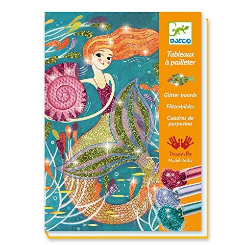 DJECO-Para niños Mayores, Tablas con Purpurina, Color Mixto (DJ09507)