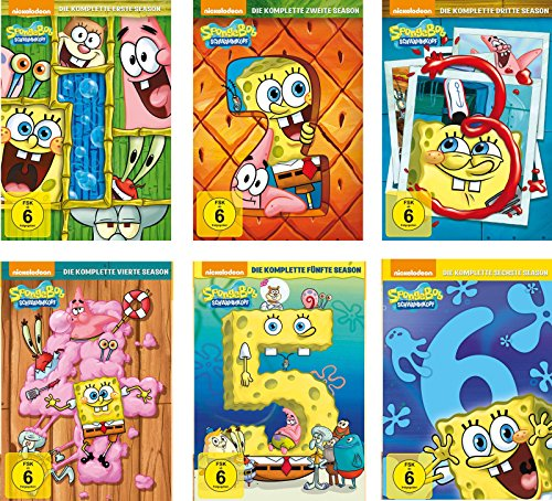 SpongeBob Schwammkopf - Die komplette Season 1-6 im Set - Deutsche Originalware [18 DVDs]