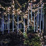 BlueFire Amélioré Météores Pluie Lumières de 50CM 10 Tube 540LED Imperméable Lumières de Noël pour Mariage Parti Halloween Jardin D'arbre Décor (Bleu)